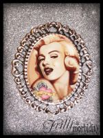 Marilyn Monroe Brooch by FrillsandMorbidity