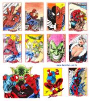 Spiderman Arquives sketchcards by danielhdr