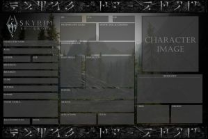 Skyrim-RP-Group Official Character Sheet - Blank by Drohung-DragonNinja