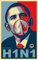 Barack Obama - Influenza H1N1 by BenHeine