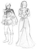 TA - Anna and Cesare - Party by ChocoboGoddess