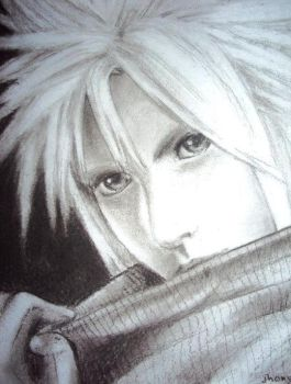 Cloud Strife Charcoal by blessedmuzic