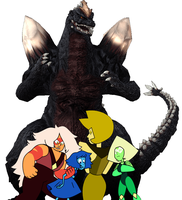 The Homeworld Gems and SpaceGodzilla by RayTom