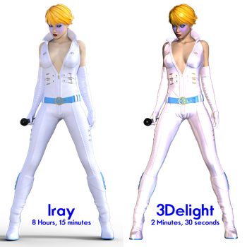 Dazzler - Iray vs 3Delight Render by Sailmaster-Seion