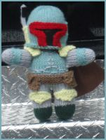 Knitted Boba Fett Plushie by knitty1121
