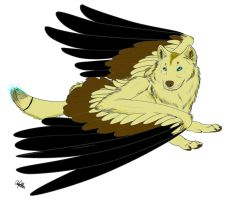 wolf adopt (with wings!):closed: by finnicky-dragon