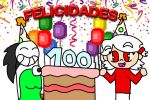 felices 100 subs Leven by deino01