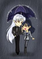 SessKag: Walk in the Rain by IceMaidenChiyoe