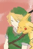 Link and pikachu by MewMewItems