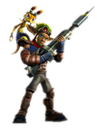 Jak and Daxter with his Pants Playstation All Star by 9029561