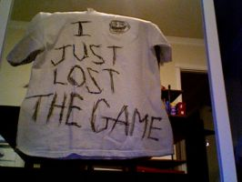 I just lost the game t-shirt by knightswhodontsayni