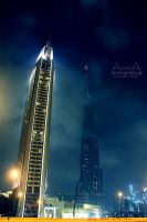 Dubai in mist 3 by amirajuli