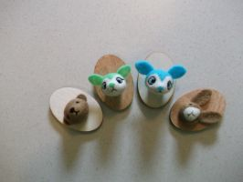 Needle felted faux taxidermy. by imaginaryfriends2012