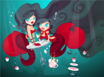 Mermaid Tea Party by kinkei