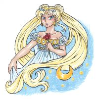 Princess Serenity for Silver-eyes-blue by nickyflamingo