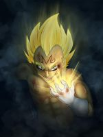Crazed Majin Vegeta by saiyanhajime