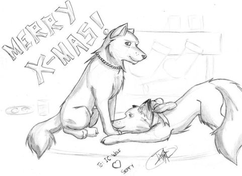 Christmas sketchy present by sepf-fuzzball