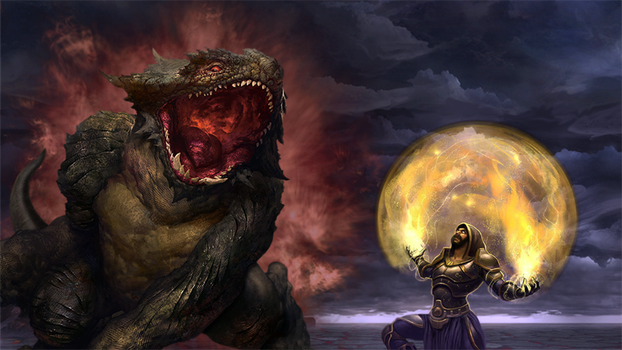 Monster vs mage by slade43