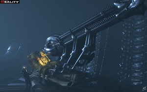 Alien Space Jockey by mbinz