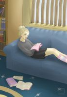 Reading in the Common Room by Marshmeellow