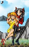 Rin and Asuka by Lord--Opal