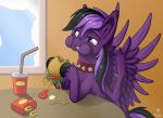 ShadowPhil eating a Hayburger COMMISSION by Starbat