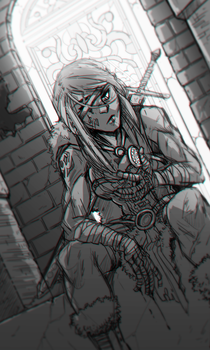 Barbarian Girl by CauseImDanJones