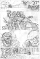 The Duel - pencils 3 by shaungardiner