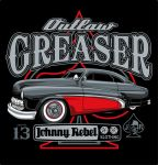 Johnny Rebel T-Shirt Design Outlaw Greaser by russellink