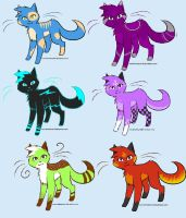 Cat Adoptables. - CLOSED by bro-palmer