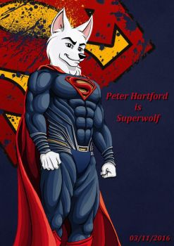 Justice league of furries : Superwolf by RaynalJacquemin