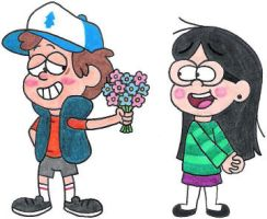 Dipper Has Flowers for Candy by nintendomaximus