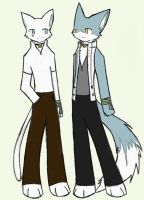 Kyo and Fayt, 2nd season by ArcaneWind