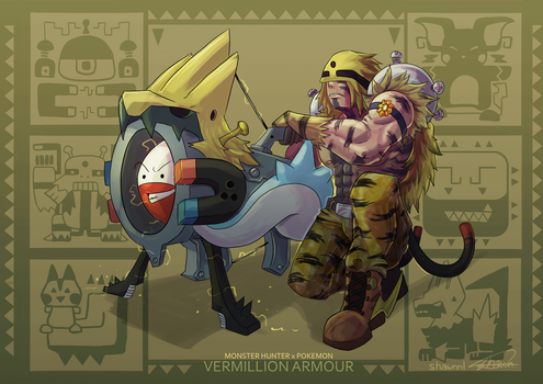 MH X POKEMON - Vermillion Armour by ShawnnL