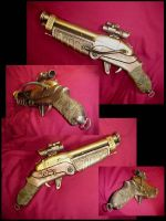 Steampunk Shotgun by Pirkleations