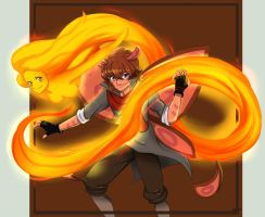 Mothy the Fire bender by haeunee2