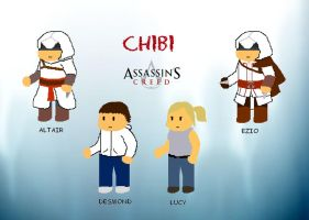 Assassin's Creed Chibis by AngelxKiller
