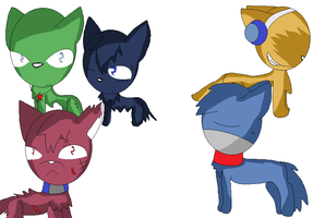 Sgt.Frog Cats by angel-san-kitty12