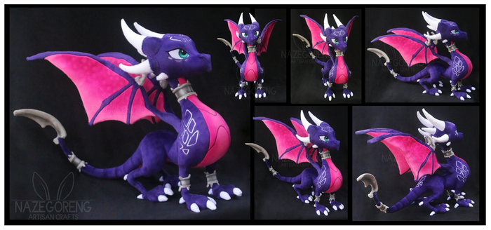 Cynder the Dragon Custom Plush by Nazegoreng