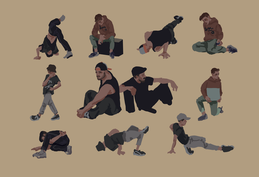Hip-hop life drawing session by Scendre-Lab