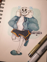 #INKTOBER - sans. by Skelefrog