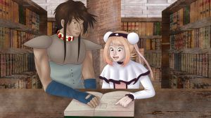 DUAEL: Library Scene (remake) by Mole-Chan