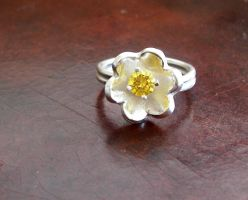 Handmade Sterling Flower Ring by DesertShineJewelry