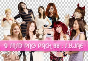 9 HD SNSD PNG PACK by ExoticGeneration21