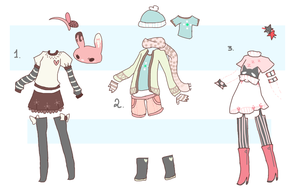 Outfits [CLOSED by Sugadoptables