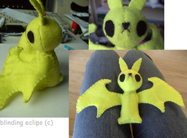 plushie: BatBunny by blinding-eclips
