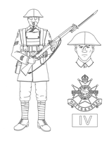 Young Cpl. Mayfield, Sherwood Foresters (Lineart) by Kira-Tsubasafan