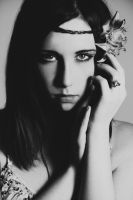 Flower Child: black and white version by Stephanie-van-Rijn