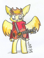 OC - Eyo I can play stuff! by DragonBlast71