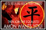 Equalist Propaganda - Recruitment Banner by XiroNyne